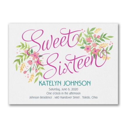 Sweet Sixteen Invitations